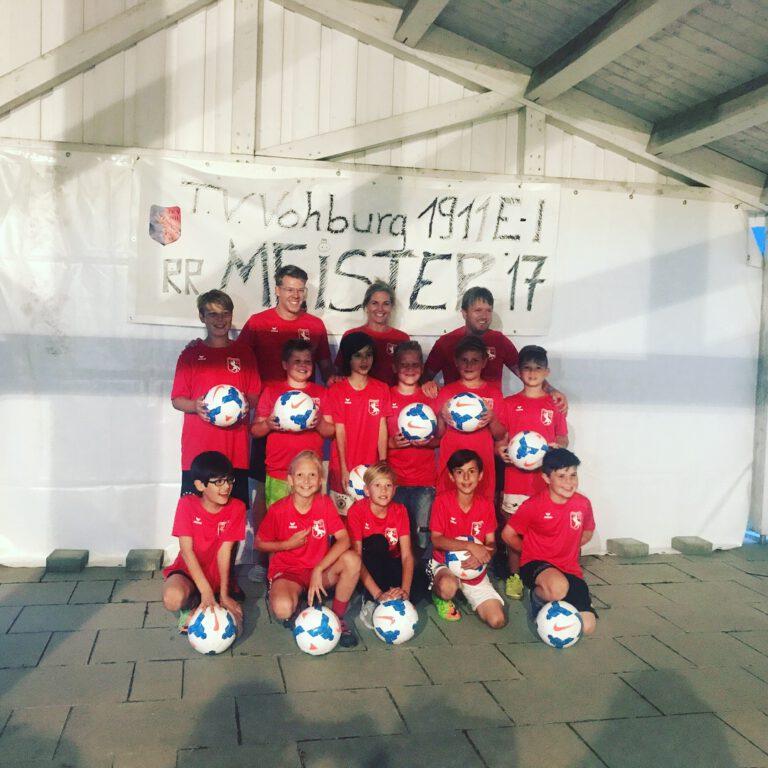 E1-Junioren feiern Meisterschaft