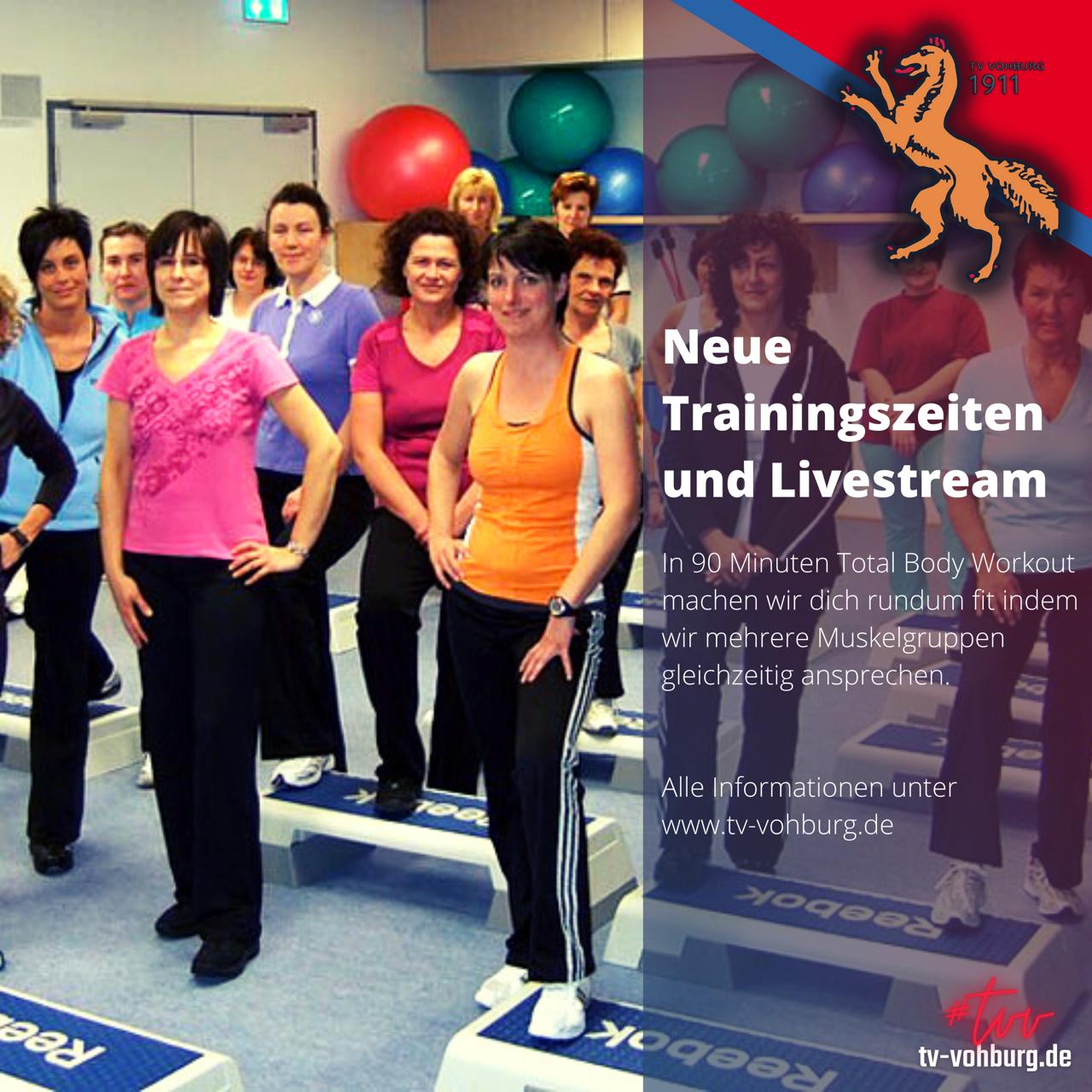 Neue Trainingszeiten und Livestream