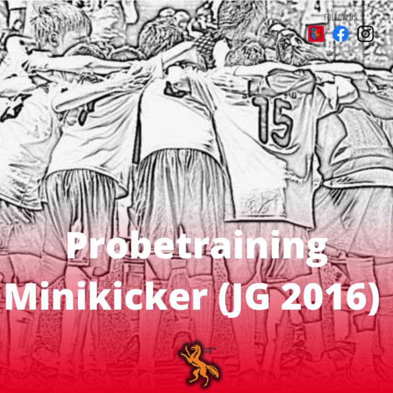 Minikicker (Jahrgang 2016) jetzt anmelden